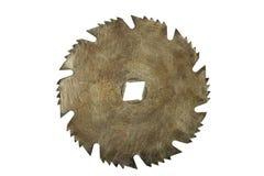 Lámina de sierra circular oxidada aislada fotografía de archivo libre de regalías