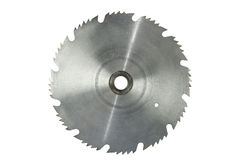 Lámina de sierra circular oxidada aislada foto de archivo libre de regalías