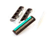 Lámina para la maquinilla de afeitar de seguridad foto de archivo