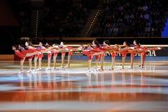 Láminas brillantes en la concesión de oro del patín 2011 Fotos de archivo