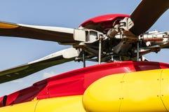 Láminas de la turbina y del helicóptero Imágenes de archivo libres de regalías