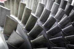 Láminas de un motor de jet foto de archivo libre de regalías