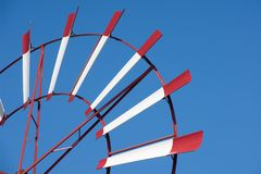 Láminas del molino de viento Fotos de archivo libres de regalías