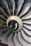 Láminas del motor de jet Imágenes de archivo libres de regalías