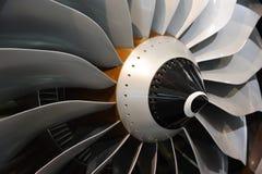 Láminas del motor de jet Imagen de archivo libre de regalías