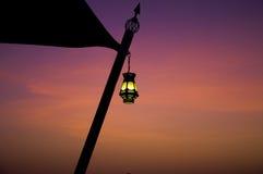 Lámpara árabe al aire libre Foto de archivo libre de regalías
