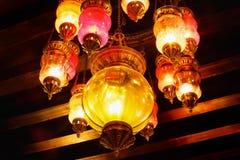 Lámpara árabe colorida Foto de archivo libre de regalías
