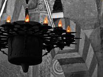 Lámpara árabe de la mezquita de Córdoba España fotos de archivo libres de regalías
