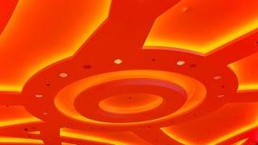 Lámpara abstracta arquitectónica del techo Imagen de archivo libre de regalías