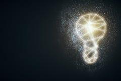 Lámpara abstracta en fondo oscuro ilustración del vector