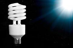 Lámpara ahorro de energía Fotografía de archivo libre de regalías