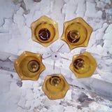 Lámpara amarilla Fotografía de archivo