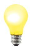 Lámpara amarilla de la iluminación Foto de archivo libre de regalías