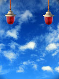 Lámpara amonestadora Fotografía de archivo libre de regalías