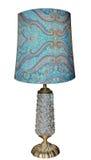 Lámpara antigua con la base de cristal foto de archivo libre de regalías