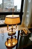 Lámpara antigua de la oficina fotografía de archivo