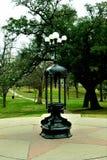 Lámpara antigua del parque en capitol del estado de Austin imagen de archivo libre de regalías