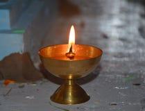 Lámpara ardiente Imágenes de archivo libres de regalías