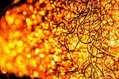 Lámpara ardiente de los alambres de acero Imágenes de archivo libres de regalías