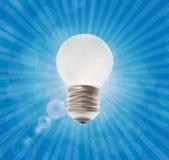 Lámpara blanca Ejemplo del vector en el fondo Fotos de archivo libres de regalías