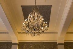 Lámpara brillante dentro del sitio Foto de archivo libre de regalías