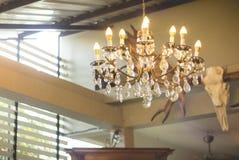 Lámpara casera de los interiores en techo Foto de archivo
