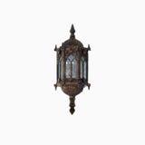 Lámpara clásica de la luz de calle en fondo blanco aislado - (Cercano Foto de archivo libre de regalías