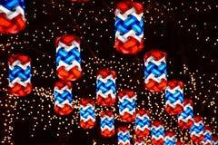 Lámpara colorida en la calle Imagen de archivo libre de regalías