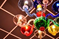 Lámpara colorida Murano Fotos de archivo libres de regalías