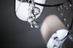 Lámpara con el cristal tallado fotos de archivo libres de regalías