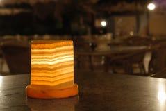 Lámpara con el viejo plafond de mármol Imágenes de archivo libres de regalías