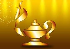 Lámpara con la llama stock de ilustración