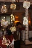 Lámpara con las decoraciones de la Navidad Imagen de archivo libre de regalías