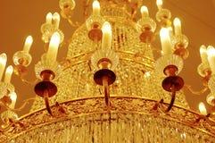 Lámpara con las velas Fotos de archivo libres de regalías
