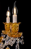 Lámpara contemporánea del oro aislada en fondo negro Primer Crystal Chandelier imágenes de archivo libres de regalías