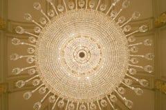 Lámpara cristalina de debajo Imagen de archivo libre de regalías