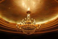 Lámpara cristalina elegante Fotos de archivo libres de regalías