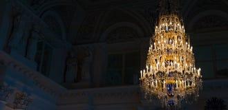 Lámpara cristalina en ermita Foto de archivo