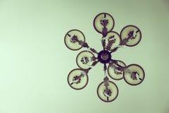Lámpara cristalina hermosa (imagen filtrada procesada) Fotografía de archivo