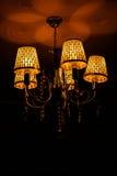 Lámpara cristalina magnífica Fotografía de archivo