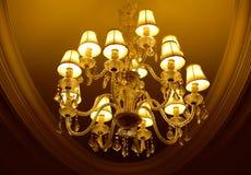 Lámpara cristalina magnífica Imagen de archivo