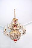 Lámpara cristalina vieja. Imagen de archivo