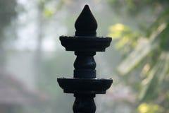 Lámpara de aceite del metal en templo Foto de archivo