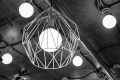 Lámpara de acero del Grunge en color del black&white Fotos de archivo
