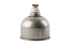 Lámpara de alcohol del laboratorio llenada de las quemaduras del alcohol Equi científico imagen de archivo libre de regalías