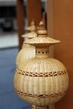 Lámpara de bambú Foto de archivo libre de regalías