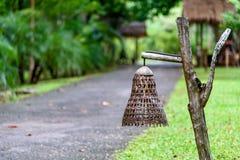Lámpara de bambú Foto de archivo