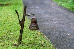 Lámpara de bambú Imagenes de archivo