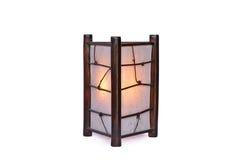 Lámpara de bambú aislada Imágenes de archivo libres de regalías
