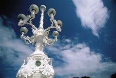 Lámpara de calle blanca foto de archivo